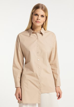 Button-down blouse - kamel