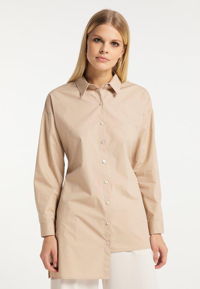 Button-down blouse - kamel