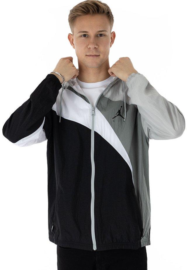 Training jacket - grey/black/white