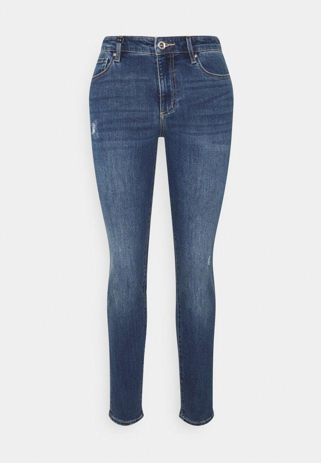 Skinny džíny - indigo denim