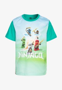 LEGO Wear - Print T-shirt - green melange - 0