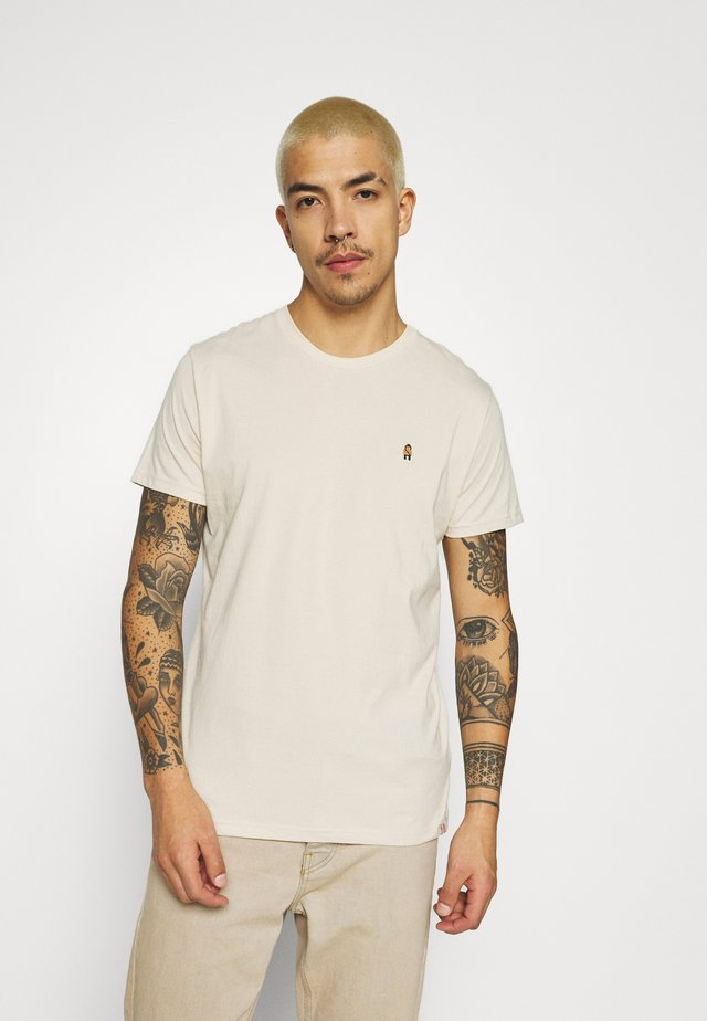 EMBROIDERED  - T-shirt print - cream