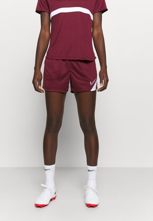DRY ACADEMY 20 SHORT - Short de sport - dark beetroot/white