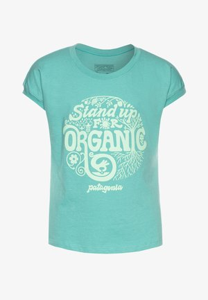 GRAPHIC ORGANIC  - Print T-shirt - light beryl green