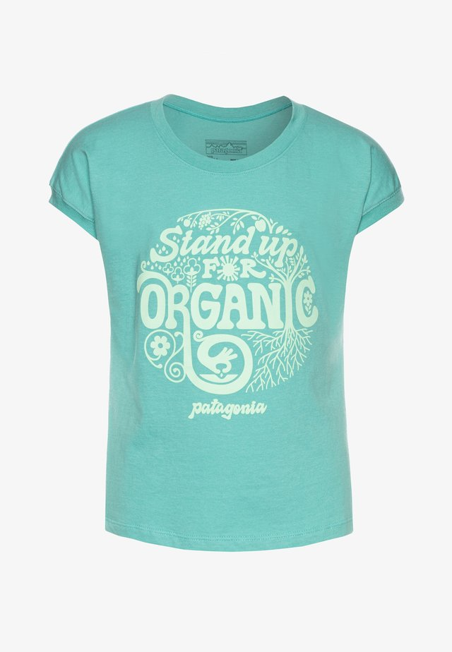 GRAPHIC ORGANIC  - T-shirt imprimé - light beryl green