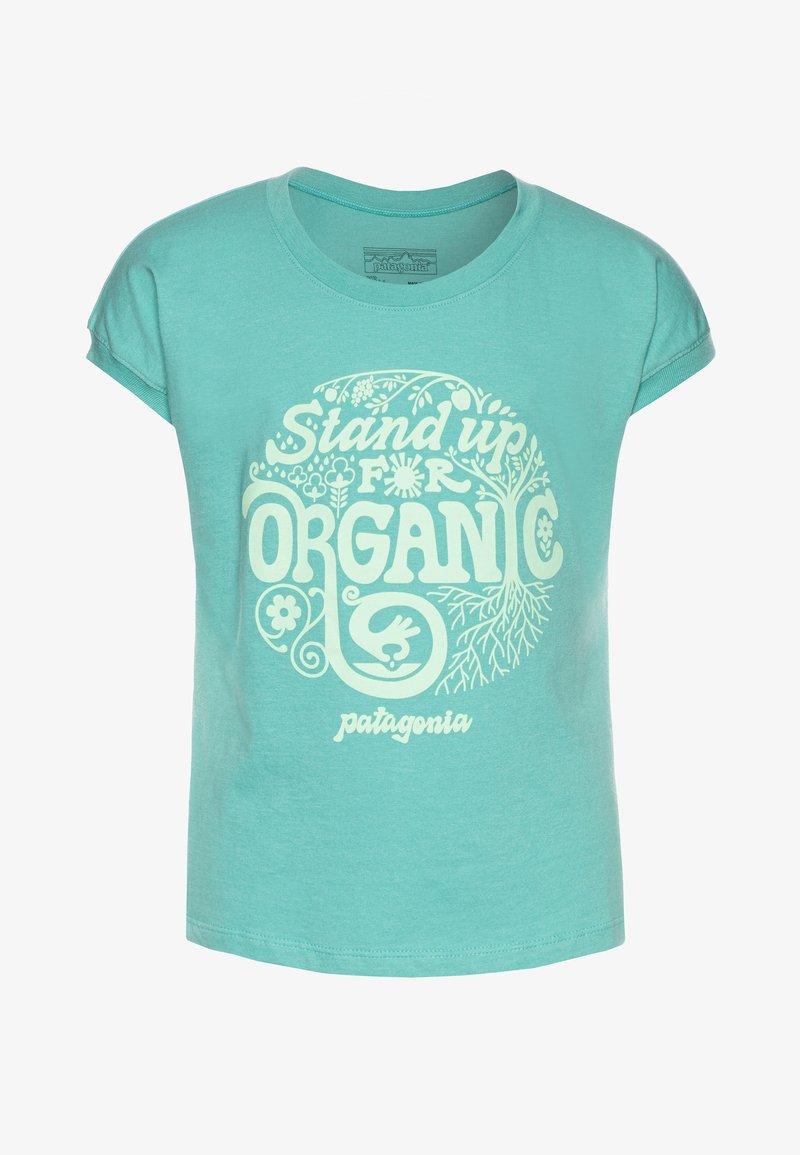 Patagonia - GRAPHIC ORGANIC  - Print T-shirt - light beryl green