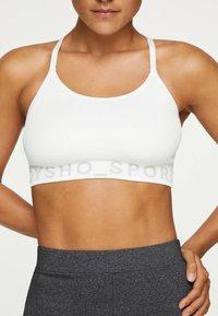 OYSHO - MIT LOGO  - Sports bra - white - 0