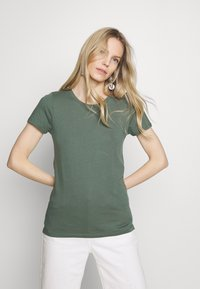GAP - FAV CREW - Camiseta básica - cool olive - 4