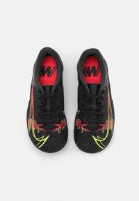 Nike Performance - MERCURIAL JR VAPOR 14 ACADEMY IC UNISEX - Halové fotbalové kopačky - black/cyber/off noir - 3