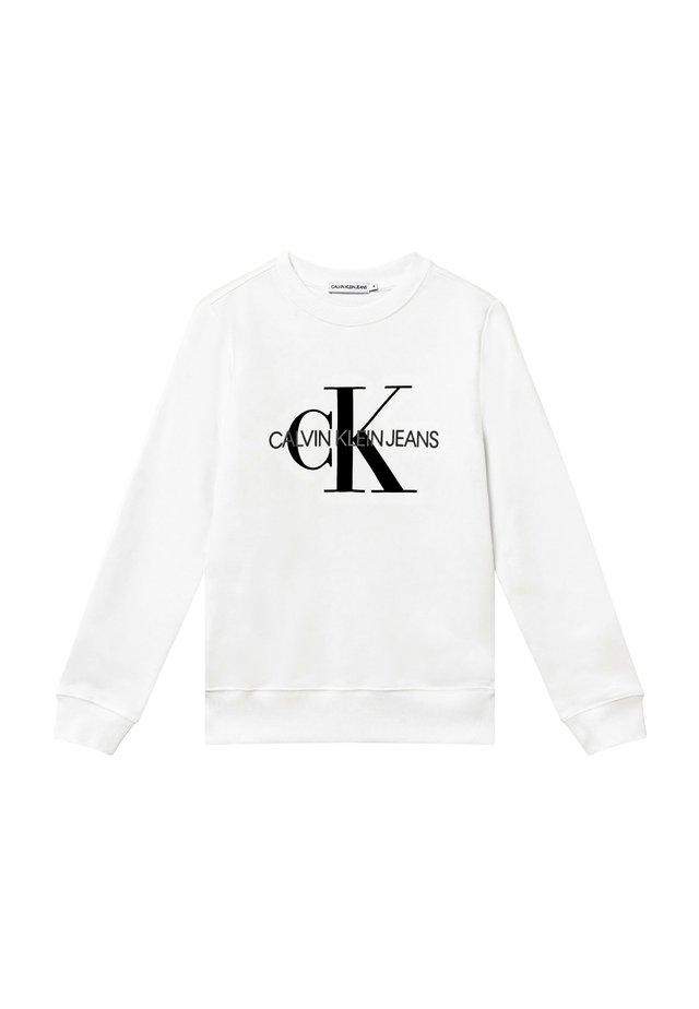 MONOGRAM LOGO UNISEX - Sweatshirt - white