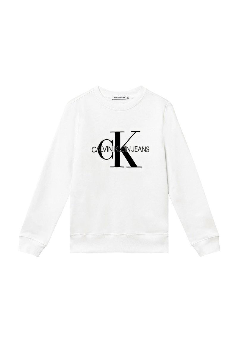 Calvin Klein Jeans - MONOGRAM LOGO UNISEX - Mikina - white