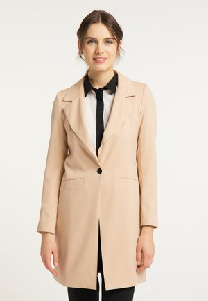 LONGBLAZER - Short coat - dunkelbeige