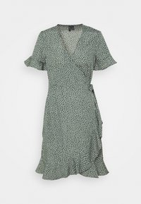 Vero Moda - VMHENNA WRAP FRILL DRESS - Korte jurk - laurel wreath - 3