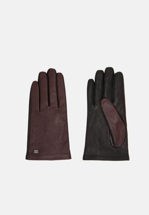 Gloves - black/bordeaux