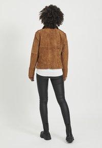 Vila - VICRIS - Leather jacket - brown - 2