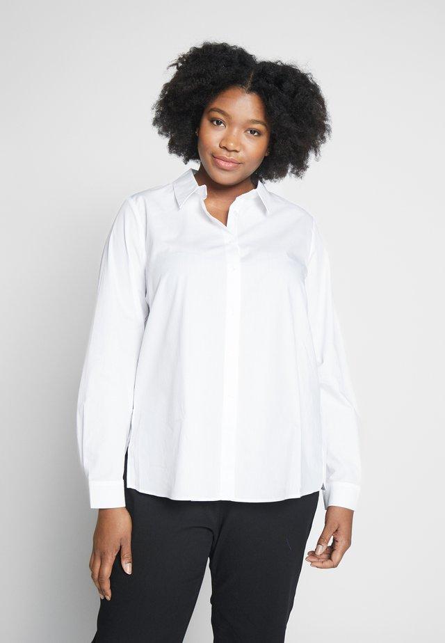 BIANCA - Button-down blouse - bianco ottico