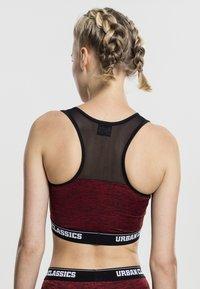 Urban Classics - ACTIVE - High support sports bra - red/black/black - 2