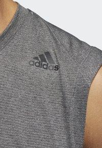 adidas Performance - FREELIFT TECH CLIMACOOL 3-STRIPES TANK TOP - Linne - grey - 5