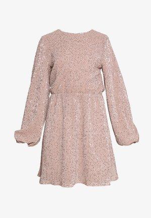 BALLOON SLEEVE DRESS - Vestido de cóctel - lt pink