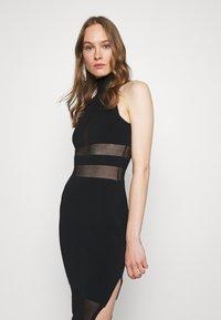 Hervé Léger - HERVE LEGER X JULIA RESTOIN ROITFELD HALTER COLUMN DRESS - Cocktail dress / Party dress - black - 3
