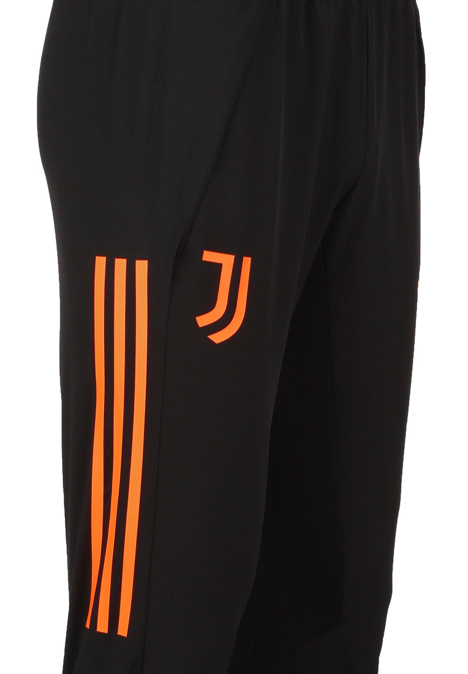 adidas Performance JUVENTUS TURIN HERREN - Pantalon de survêtement - black / app signal orange