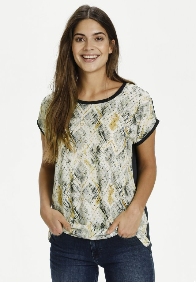 Blusa - blue/white grafic print