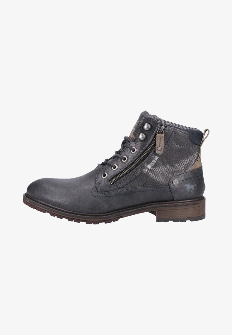 Mustang - Lace-up ankle boots - graphite