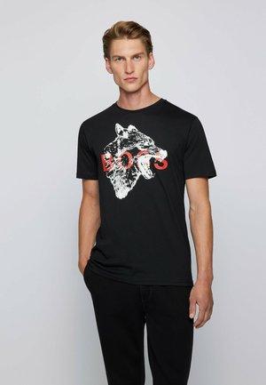 TDRAW - Print T-shirt - black