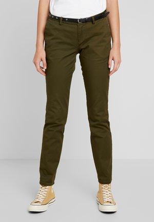 Chino kalhoty - army