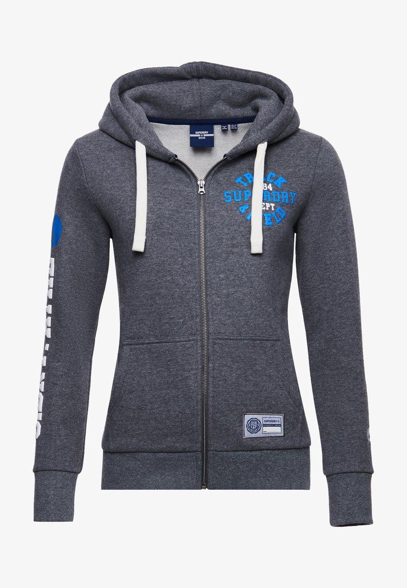 Superdry - COLLEGIATE ATHLETIC  - Zip-up sweatshirt - dark marl