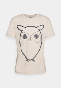 ALDER BIG OWL TEE - T-shirt med print - white melange