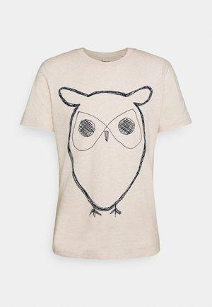 ALDER BIG OWL TEE - Print T-shirt - white melange