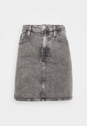 HIGH RISE MINI SKIRT - A-line skirt - grey