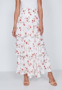True Violet - TIERED  - Maxi skirt - white - 0