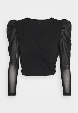 ONLLISE LIFE TOP  - Long sleeved top - black