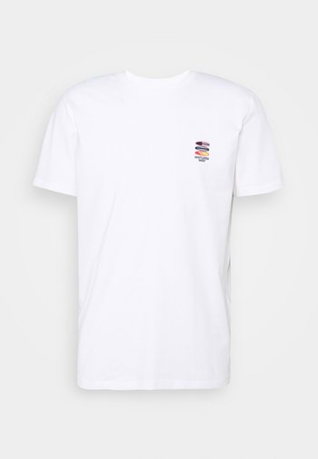 SLHFATE CAMP O NECK TEE - T-shirt med print - bright white