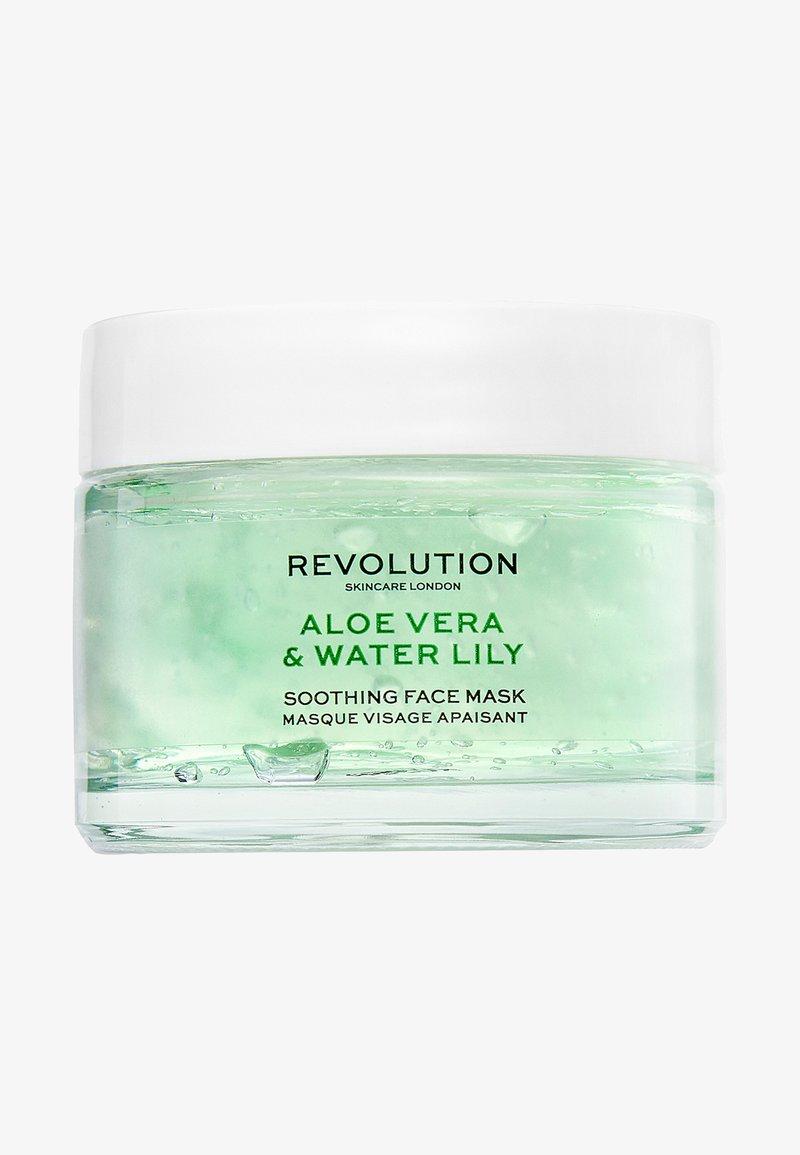 Revolution Skincare - REVOLUTION SKINCARE ALOE VERA & WATER LILY SOOTHING FACE MASK - Gesichtsmaske - -