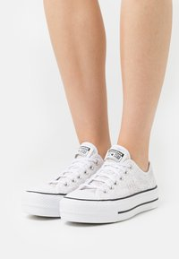 Converse - CHUCK TAYLOR ALL STAR OPEN PLATFORM - Trainers - white/black/white - 0