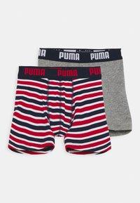 Puma - BOYS BASIC BOXER PRINTED STRIPE 2 PACK - Culotte - ribbon red - 0