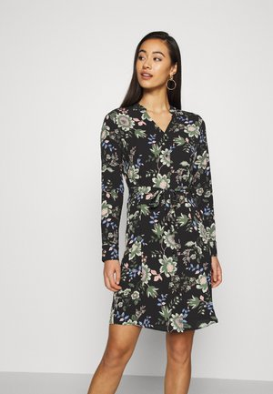 VMSAGA V-NECK DRESS - Shirt dress - black/cassandra