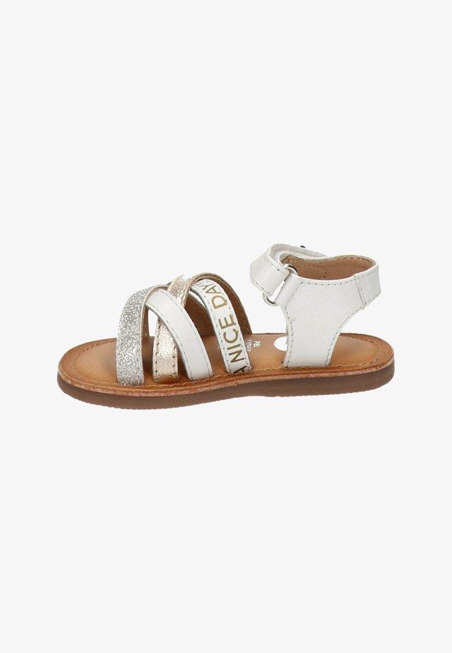 Sandalen met enkelbandjes - wit