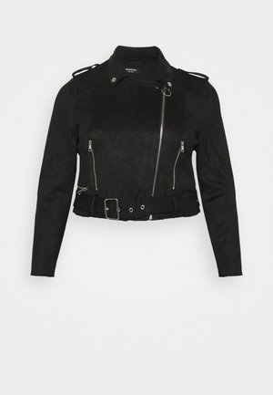SUEDETTE BIKER - Faux leather jacket - black