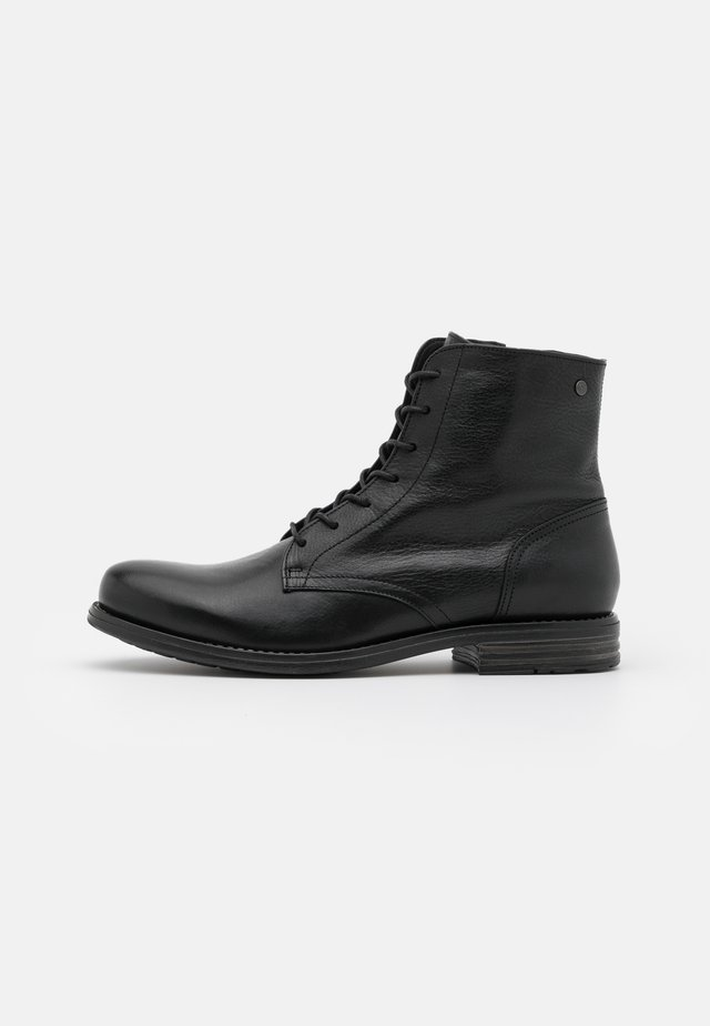 SHANK - Lace-up ankle boots - black