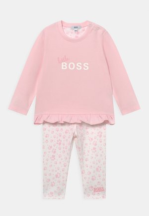SET - Leggings - Trousers - pink/white