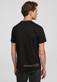 KARL LAGERFELD - LEGEND LOGO  - Print T-shirt - black - 1