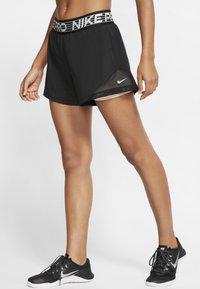 Nike Performance - SHORT  - Korte broeken - black/washed coral/white - 0