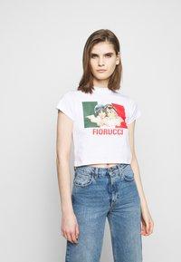 Fiorucci - SPEED QUEEN CROP TEE  - Print T-shirt - white - 0