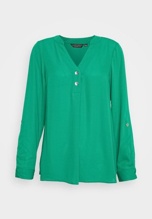 DOUBLE BUTTON ROLL SLEEVE - Blusa - green