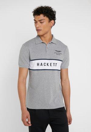 CHEST PANEL - Poloshirt - grey/white