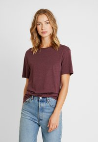 Pier One - Basic T-shirt - bordeaux melange - 3